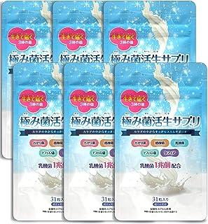 【公式】極み菌活生サプリ 31粒 やせ菌 サプリメント 乳酸菌 酪酸菌 ビフィズス菌 6袋(約6ヶ月分)
