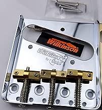 Wilkinson Vintage Bridge WTB Telecaster Bridge Steel Base Brass Saddles for Tele guitar (Chrome)