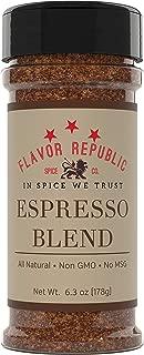 Espresso Powder Spice Blend. Dry Rub Java Seasoning for Steak, Chicken, Vegetables and Baking Spices - Flavor Republic (6.3 oz)