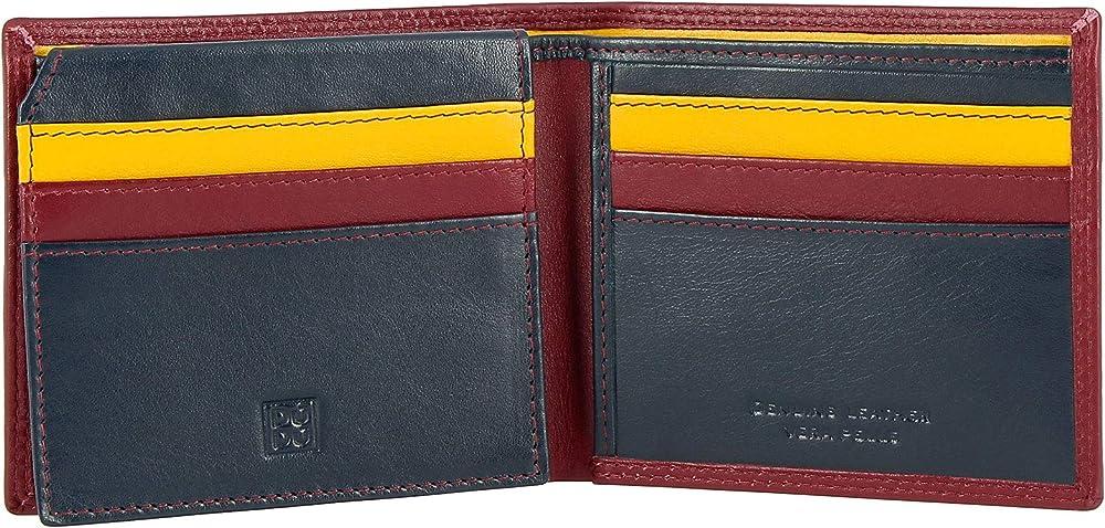 Dudu portafoglio piccolo da uomo multicolore in pelle porta carte di credito 8031847170368