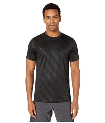 Nike Breathe Academy Top Short Sleeve All Over Print (Black/Anthracite/Anthracite) Men