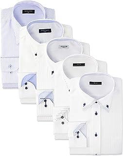 [アトリエサンロクゴ] ワイシャツ 5枚セット おまかせセット イージーケア 形態安定 長袖Yシャツ メンズ val-fux-5fix