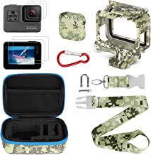 Gopro Accessories Kits, Kitspeed Portable Action Camera Accessory Kit with Camouflage for GoPro Hero 7/Hero 5/Hero 6/Hero (2018), Storage Bag, Lens Cap Cover,Protective Case,Carabiner, Strap,Lens Film