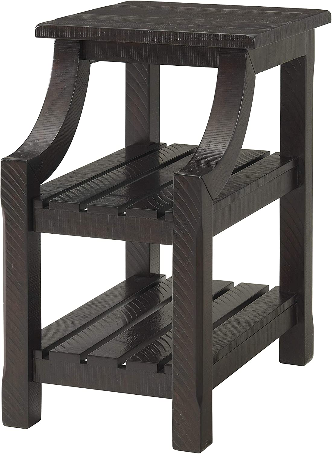 Martin Svensson Home Barn Door Chairside Table with Power, Espresso