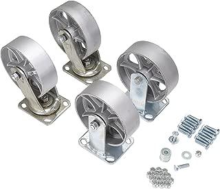 Vestil D-CK4-SC6-2 Semi-Steel Plate Caster Set for Self-Dumping Hopper, 6