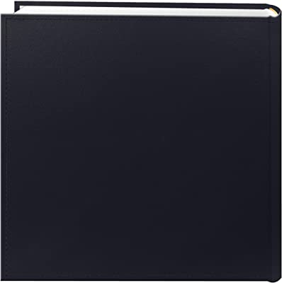 Pioneer Photo Albums 200-Pocket Sewn Leatherette Frame Cover Photo Album, 4 by 6-Inch, Navy Blue
