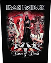 XLG Iron Maiden Dance of Death Back Patch Album Art Rock Jacket Sew On Applique