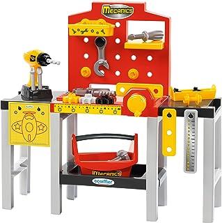 Jouets Ecoiffier – 2350 - Ensemble Établi modulable + outils pour enfants Mecanics – Jeu de bricolage – 32 pièces – Dès 18...