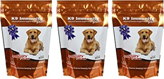Aloha Medicinals - K9 Immunity Plus - Potent Immune Booster for Dogs 30-70 lbs - Certified Organic – Mushroom Enhanced Supplement - Veterinarian Recommended Dog Health Supplement - 60 Chews 3 Pack