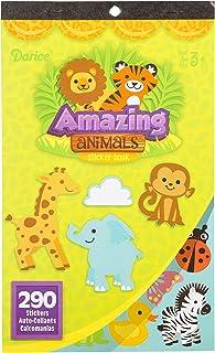 Darice Book for Kids: Amazing Animals, 290 Stickers, Multicolor