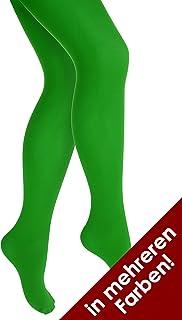 Thetru Thetru Damen-Strumpfhosen in grün   Größe L/XL   Blickdichte-Strumpfhosen für Karneval und Fasching grün