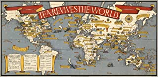 Map Poster - Tea revives the world. MacDonald Gill 1940 - 24