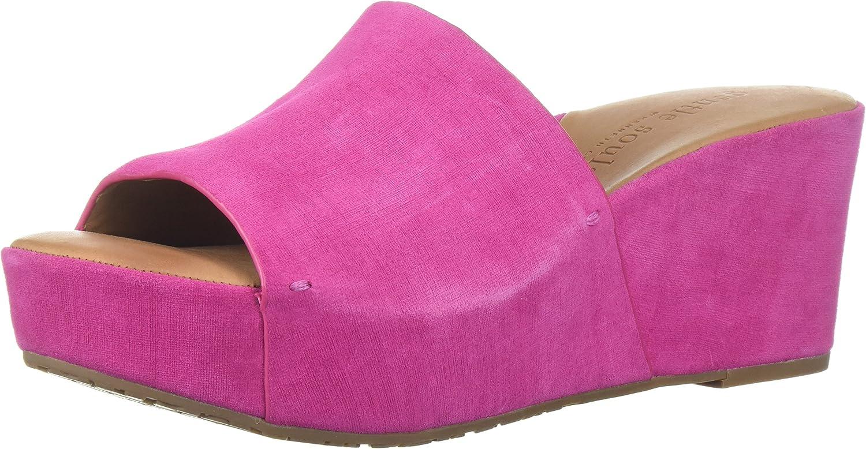 Gentle Souls Womens Forella Platform Slip on Sandal Slide Sandal