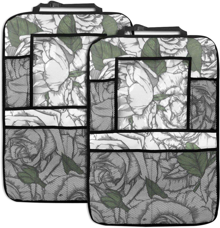 NELife Backseat Organizer 2 Pack Regular dealer - Albuquerque Mall Se Black Car Floral And White