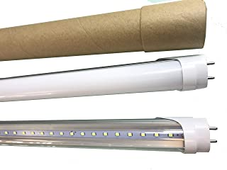 LESON 75W Equivalent T8 4ft G13 LED Tube Light Dual-Ended Powered 22W Cool White 6000K Frosted//Milky Cover 100-277V Super Brightness 10-Pack