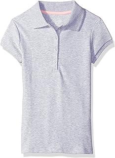 Nautica Girl's School Uniform Short Sleeve Pique Polo Polo Shirt