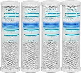 """Geekpure Lot de 4 cartouches filtrantes en fibre de coco 5 microns 2,5"""" x 10"""""""