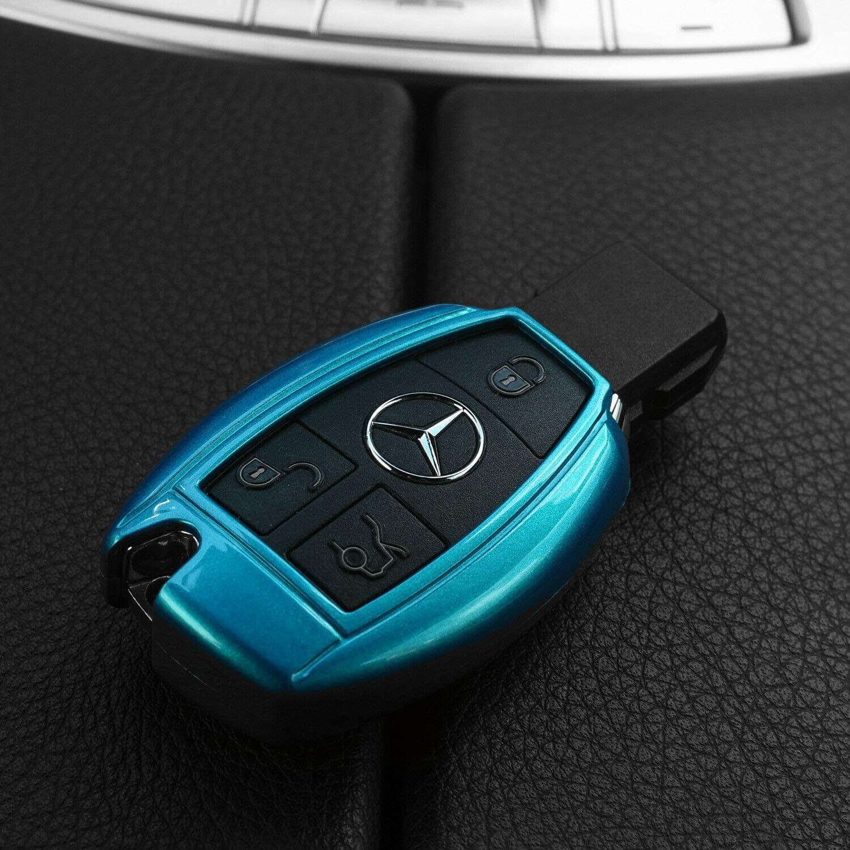 Auto Schlüssel Cover Hülle Für Mercedes Benz Funk Fernbedienung Ab 2005 Farbe