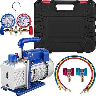 Bestauto Vacuum Pump Kit 3CFM 1/4 HP Air Vacuum Pump HVAC Air Conditioning Refrigerant Rotary Vane Single Stage Vacuum Pum...