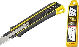 タジマ(Tajima) コーキングカッターJロング 適合替刃:極厚J型刃 (刃は付属しておりません) DC680/Y+タジマ(Tajima) カッター用 替刃 極厚 J型刃 22mm 7枚入 CB62-7H/Y