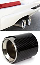 Performance Style Carbon Fiber Cover Steel Muffler Exhaust Tip Finisher Fits for BMW