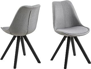Amazon Brand - Movian Arendsee - Juego de 2 sillas de comedor, 55 x 48,5 x 85cm, gris