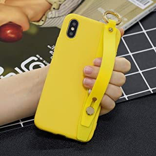 Amocase Soft Silicone Case with 2 in 1 Stylus for Huawei P20 Lite,Cute Sweet Candy Color Wrist Strap Stand Shockproof Anti-Scratch Flexible Case - Yellow