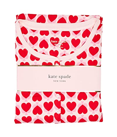 Kate Spade New York Brushed Jersey Jogger Long Pajama Set (Unlock Your Heart) Women
