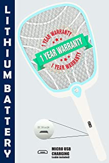 Weird Wolf Rechargeable Mosquito Racket Bat with USB Charging and 1 Year Warranty (Li Model)