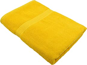 Fresh From Loom 450 GSM Cotton Fabric Towel (27x54inch; Yellow) - 1pc only