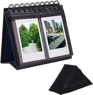 Sunmns Desk Table Calendar Style Photo Album Compatible for Fujifilm Instax Mini 7s 8 50s 70 90 26 9/ Polaroid Z2300 PIC-300P Snap Zip Films, Black