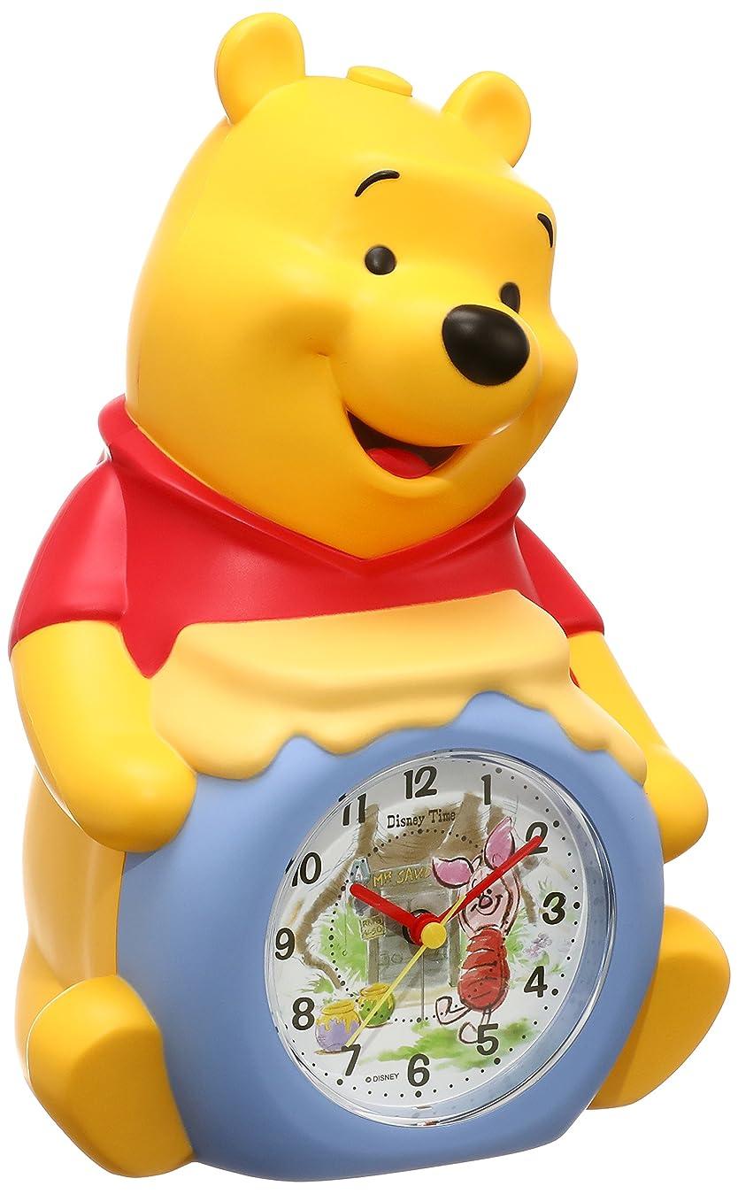 勤勉な実質的に人間セイコー クロック 目覚まし時計 くまのプーさん キャラクター型 アナログ おしゃべり アラーム Disney Time ディズニータイム FD463A SEIKO