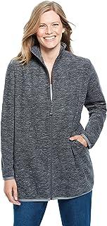 Women's Plus Size Zip-Front Microfleece Jacket Fleece