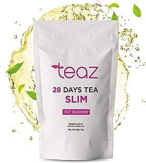 Teaz 28 Days Slim - Fat Burner Tea | For Women & Men | 85g Loose Leaf | Slim Tea for Weight Loss | Detox Tea | Diet & Fat Loss Tea | Cleanse Tea | Natural Dietary Supplement | For More Successful Diet