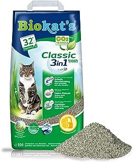 Biokat's Classic fresh 3in1, geurend - Klontvormende kattenbakvulling met korrels in 3 verschillende groottes - 1 zak (1 x...