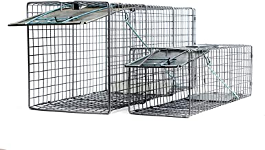 2pc Value Pack Catch Release Heavy Duty Cage Live Animal Traps for Cats, Racoons, Gophers, Possums, Skunks, Beavers, and Other Similar Sized Animals, 32