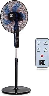 Di4 Aria Silence Control 40- Ventilador de Pie, 40cm Diámetro, Silence Technology y 5 Hélices