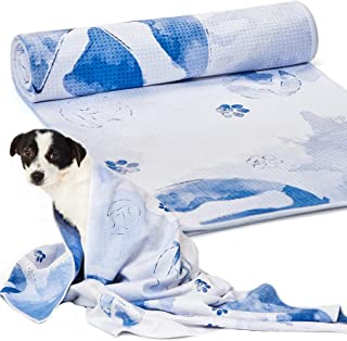 "Sponsored Ad - Thankspaw Microfiber Pet Dog Towel Beach Towel Quickly Dry Bath Towel (27.5"" x 55.1"") Super Absorbent Machi..."
