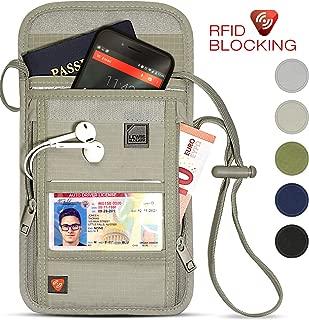 Lewis N. Clark Travel RFID Blocking Luxe Neck Stash, Beige