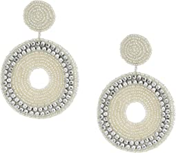 Seedbead Circle Drop Direct Post Earrings