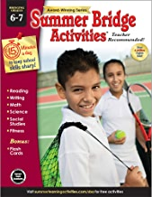 Summer Bridge Activities - Grades 6 - 7, Workbook for Summer Learning Loss, Math, Reading, Writing and More with Flash Cards