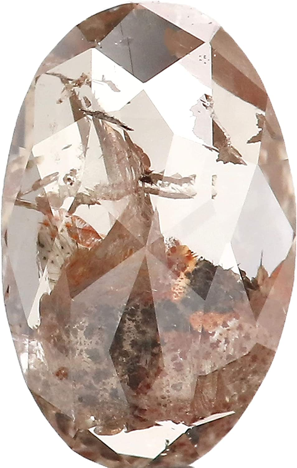 0.58 CT Natural Loose Diamond Oval Brown Color Bargain Grey New arrival 6.85 MM L923
