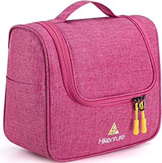 Travel Bag Organizer by Hikenture/Hanging Toiletry Bag for Men&Women - Portable,Waterproof Dopp Kit/Makeup Organize/TSA Friendly Hanging Toiletry Bag for Home, Gym, Airplane, Hotel, Car Use (Pink)