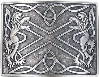 Saltire Antiqued Kilt Belt Buckle - Made in Scotland