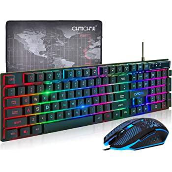 Waterproof Esports Game Equipment Internet Cafe Color : Black Office Game Dedicated XIONGHAIZI Illuminated Keyboard and Mouse Set