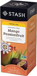 Stash Tea Mango Passionfruit Herbal Tea 30 Count Tea Bags in Foil (Pack of 6) Individual Herbal Tea Bags for Use in Teapots Mugs or Cups, Brew Hot Tea or Iced Tea