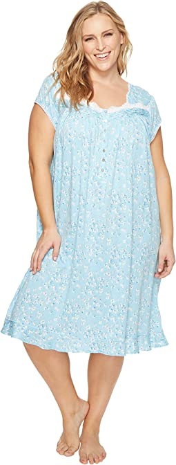 Eileen West - Plus Size Modal Waltz Short Nightgown
