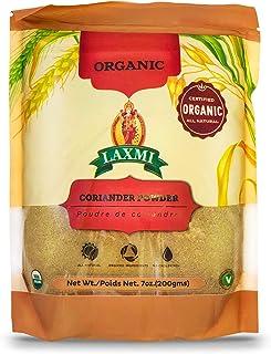 Laxmi Organic Coriander Powder, Purdre De Coriandre, Certified Organic, All Natural, Organic Ingredients, No Cholesterol, ...