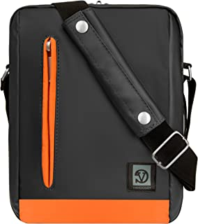 Alder Laptop Crossbody Carrying Case Tablet Messenger Bag (Grey/Orange) Nabi Nabi ELEV
