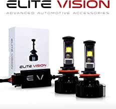 Elite Vision Advanced Automotive Accessories - Elite LED Conversion Kit H11 (H8,H9, H16) for Bright White Headlights Bulbs, Low Beams, High Beams, Fog Lights